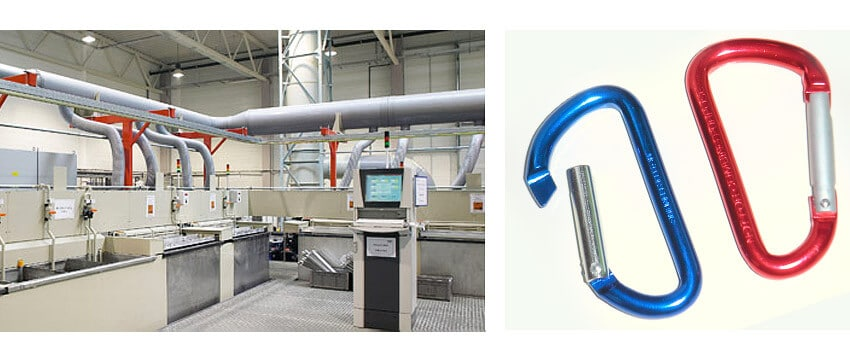 Anodizing plant and anodized alloy parts